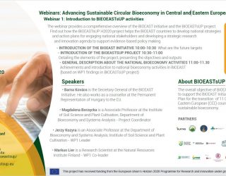Webinars: Advancing Sustainable Circular Bioeconomy in Central and Eastern European Countries