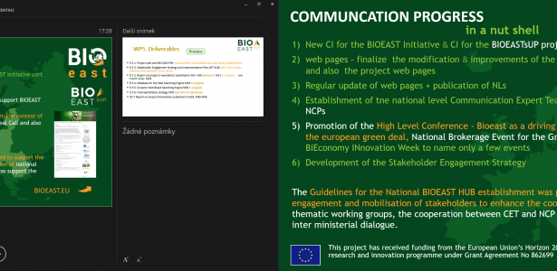 BIOEAST & BIOEASTSUP COMMUNICATION